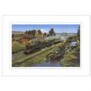 Steam Train Greeting Card - Sharing the Moment